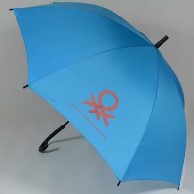 Parapluie canne bleu Benetton