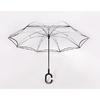 Parapluie inversé transparent profil
