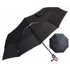 Parapluie pliant de qualité noir profil