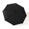 Parapluie pliant grand diamètre noir haut