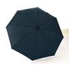 Parapluie pliant grand diamètre bleu haut