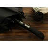 Parapluie long automatique noir poignée