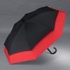 Parapluie allongé rouge et noir profil