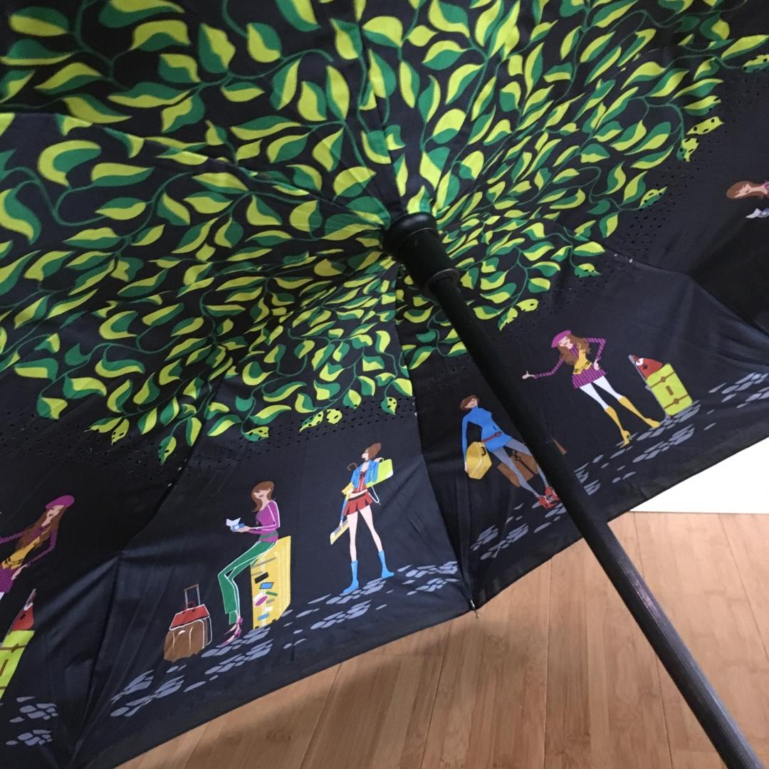 Parapluie inversé personnages détail