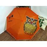 parapluie Hibou orange de face
