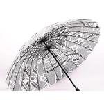 Parapluie droit journal dessous