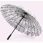 Parapluie droit journal profil