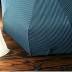 Parapluie pliant de qualité bleu rayures toile