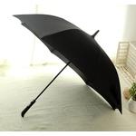Parapluie long automatique noir profil