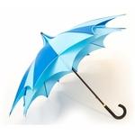 parapluie d'amazoni bleu profil