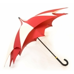 parapluie d'amazoni rouge profil