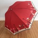 Parapluie tempete rouge