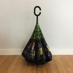 Parapluie inversé personnages