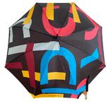 parapluie tendance avec imprime esprit de face