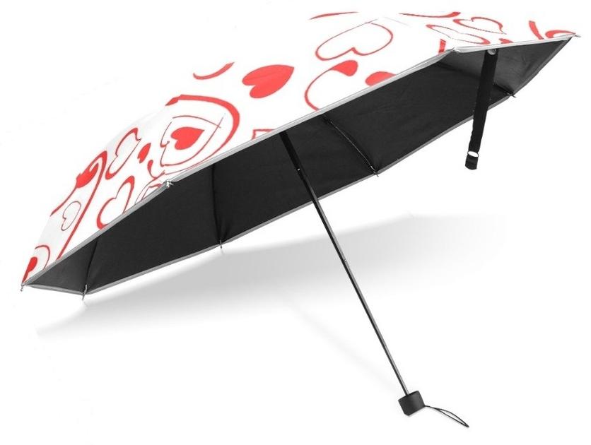 Parapluie pliant coeur dessous