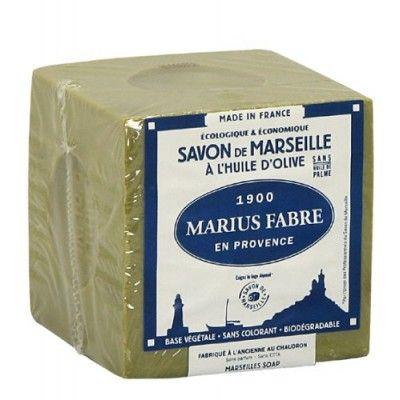 SAVON DE MARSEILLE A L\'HUILE D\'OLIVE CUBE DE 400G