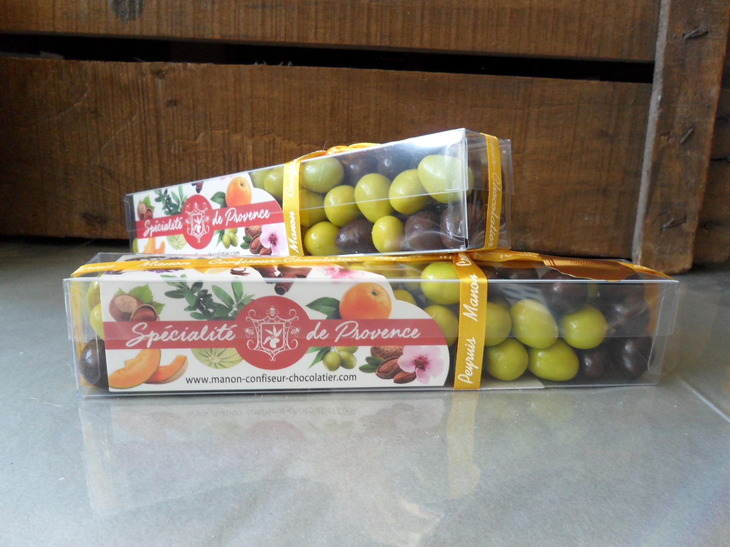 Boîte d\'olives feuilletées au Chocolat 220 g