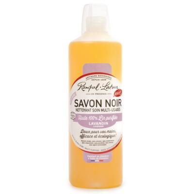Savon noir à l\'huile de lin - Parfum Lavandin