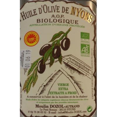 BAG IN BOX 2L HUILE D'OLIVE AOP BIOLOGIQUE