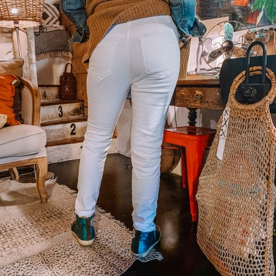 Jeans Molly blanc dos