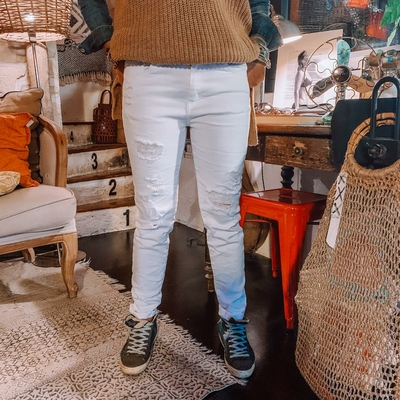Jeans Molly blanc face 2