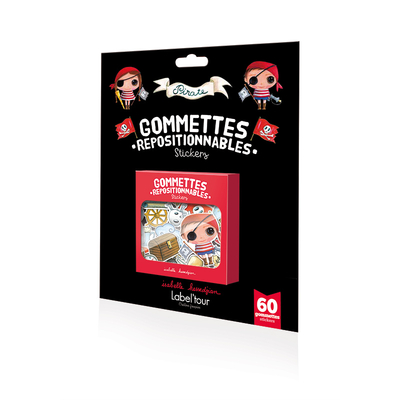 "60 Gommettes repositionnables ""Pirate"" -"