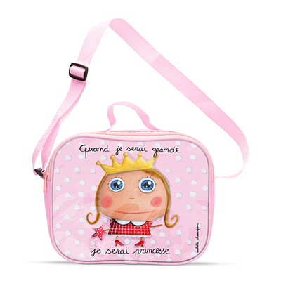 Lunch bag fille : Quand je serai grande, je serai princesse