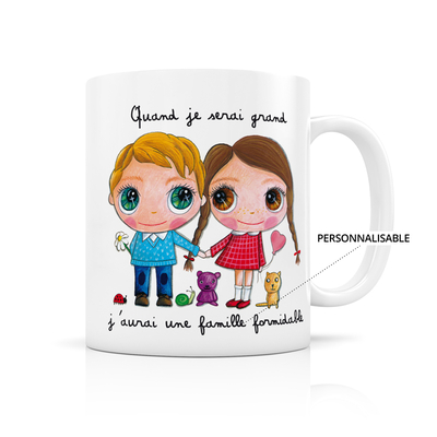 "Mug ""Famille formidable"" Personnalisable"