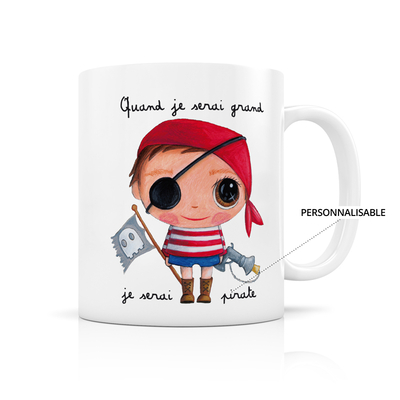 "Mug ""Pirate"" Personnalisable"