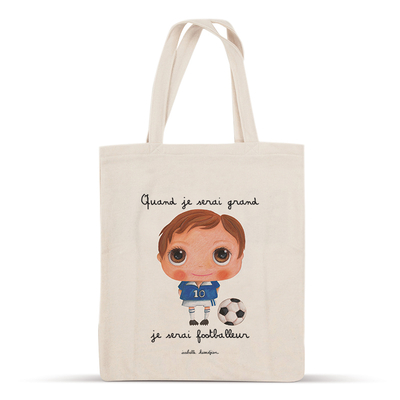 Tote bag footballeur