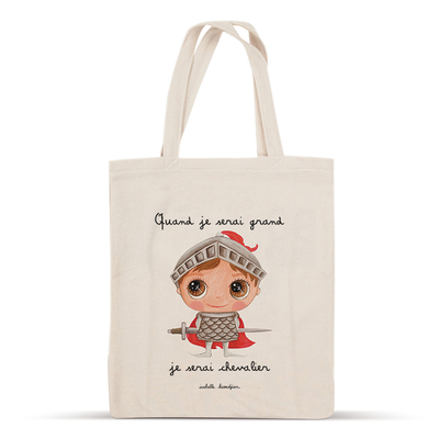 Tote bag chevalier