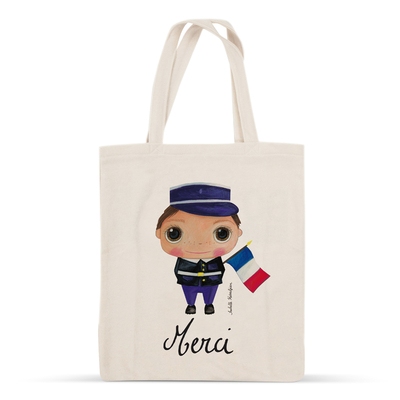 "Tote-bag Gendarme ""Merci"""