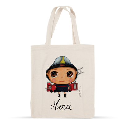 "Tote-bag Pompier ""Merci"""