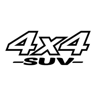 Sticker logo 4x4 suv ref 10