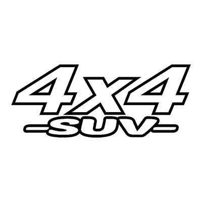 Sticker logo 4x4 suv ref 13
