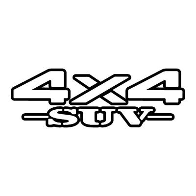 Sticker logo 4x4 suv ref 29