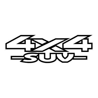 Sticker logo 4x4 suv ref 37