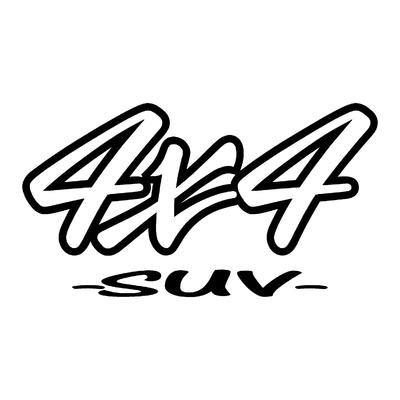 Sticker logo 4x4 suv ref 50