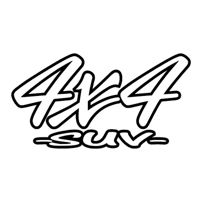Sticker logo 4x4 suv ref 53