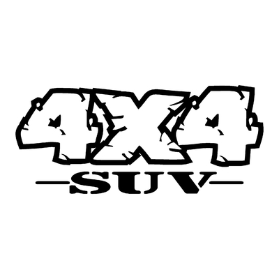 Sticker logo 4x4 suv ref 82