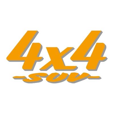 Sticker logo 4x4 suv ref 19