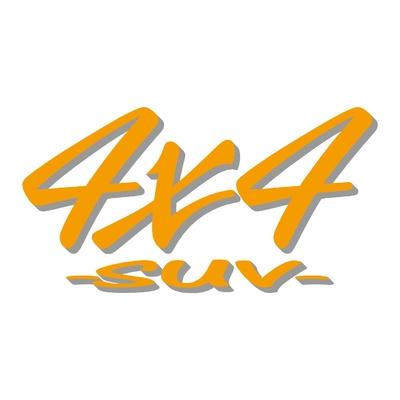 Sticker logo 4x4 suv ref 51