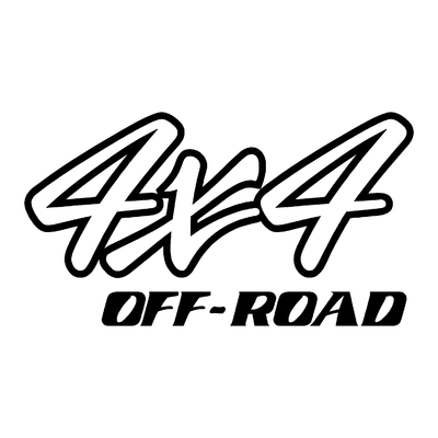 Sticker logo 4x4 off-road ref 58