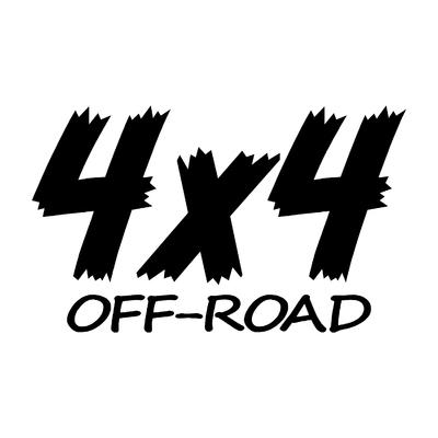 Sticker logo 4x4 off-road ref 81