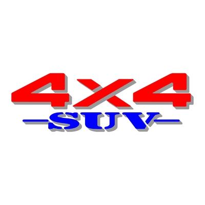 Sticker logo 4x4 suv ref 30