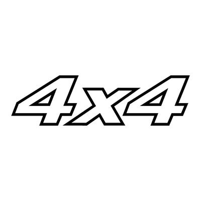 Sticker logo 4x4 ref 2
