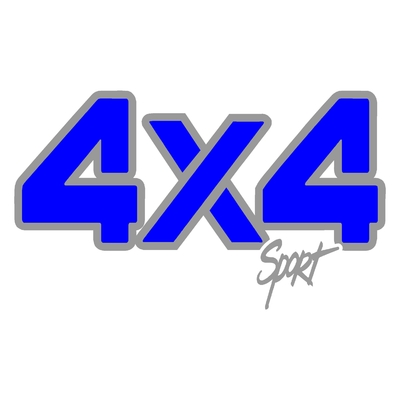 Sticker logo 4x4 sport ref 4