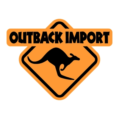 Sticker OUTBACK IMPORT ref 1