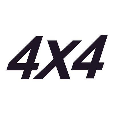 Sticker logo 4X4 ref 5