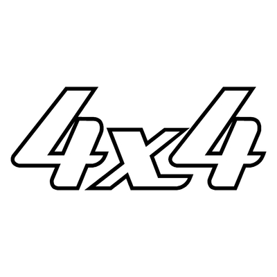 Sticker logo 4X4 ref 10